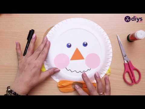 How to Make a Paper Plate Scarecrow