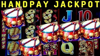 🍀HANDPAY JACKPOT🍀 on Dancing Drums Slot Machine | MASSIVE WIN | Max Bet | Wheel Of Fortune Bonuses