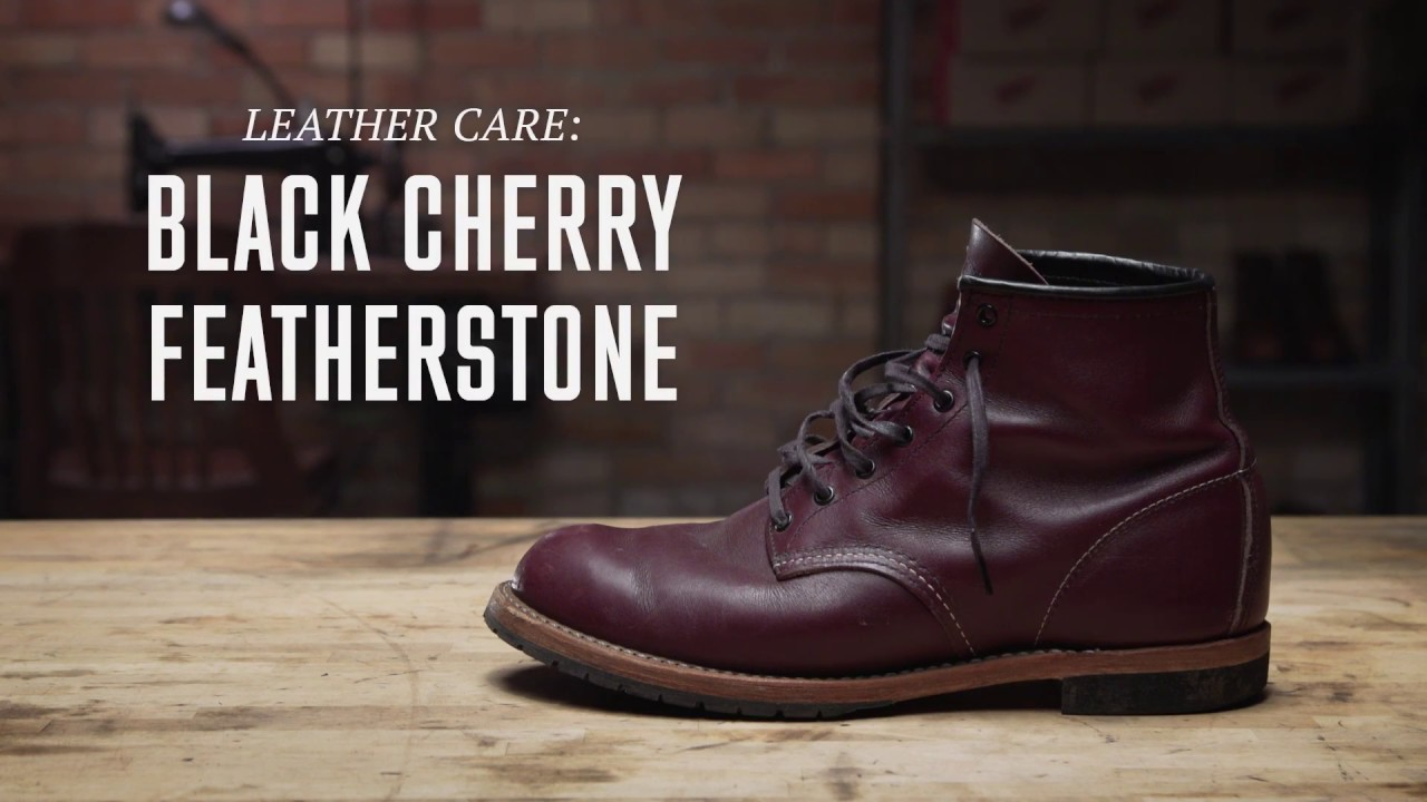 Red Wing Heritage Black Cherry Featherstone Leather Care