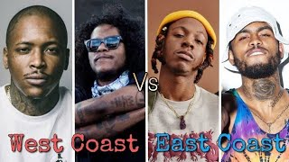 West Coast Rappers Vs. East Coast Rappers (New School Edition)