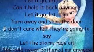 Let it go - Disney Frozen Lyrics + Karaoke Thumbnail
