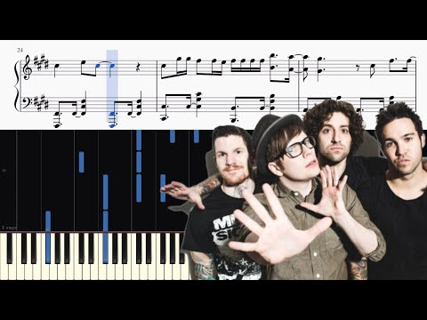 Fall Out Boy - HOLD ME TIGHT OR DON'T - Piano Tutorial