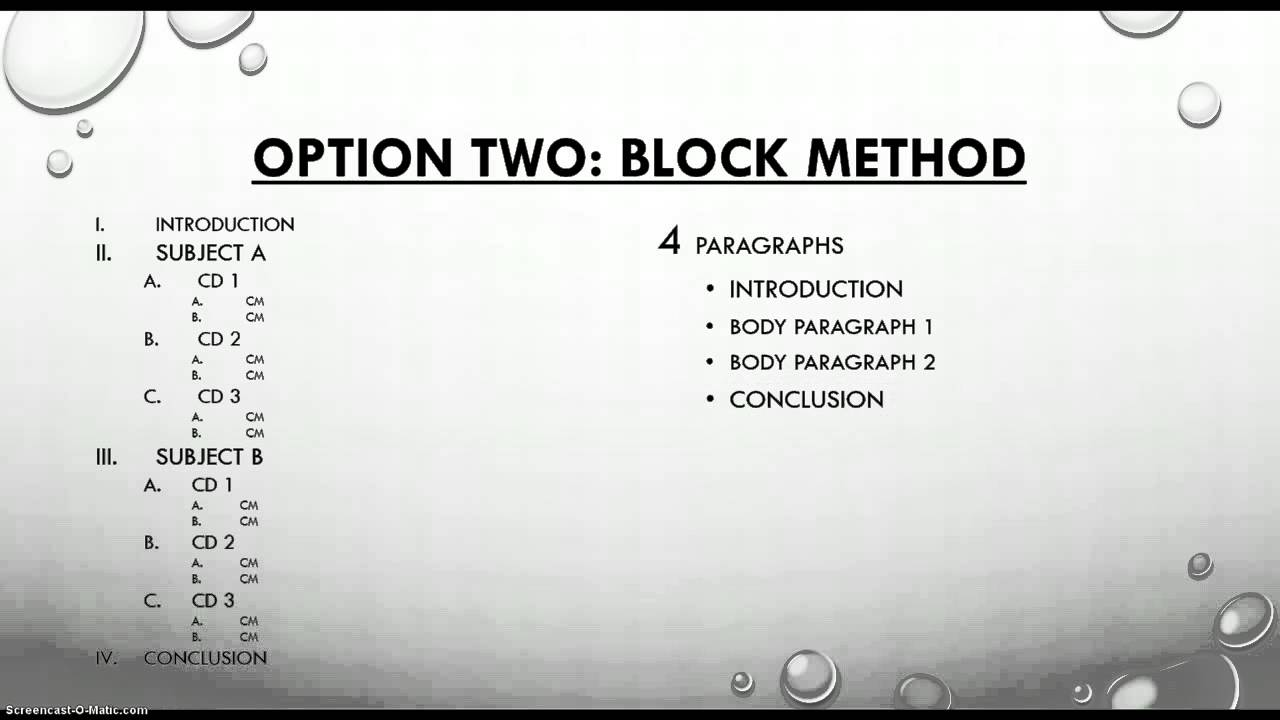 comparative essay block method Browse and read comparative essay example block method comparative essay example block method why should wait for some days to get or receive the comparative essay.