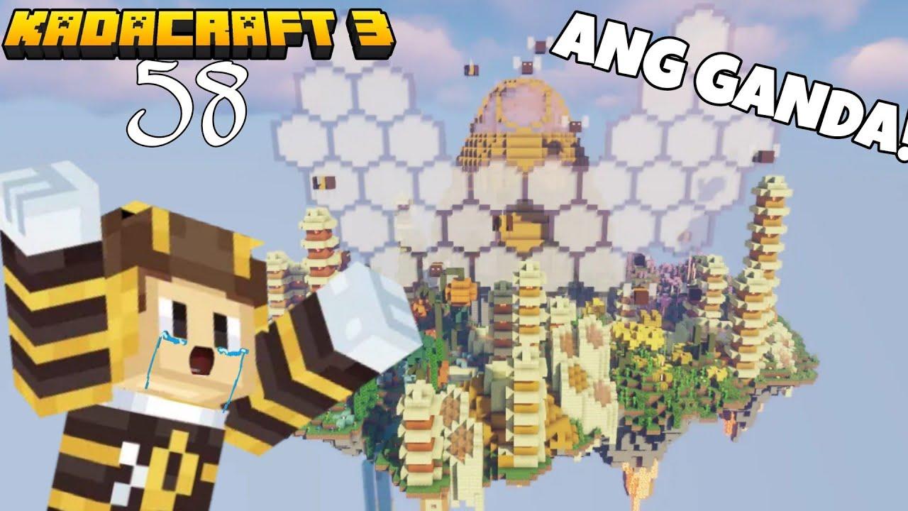 KadaCraft 3 Ep 58 : TAPOS NA ANG MEGA BUILD! | MOTHER BEEHIVE