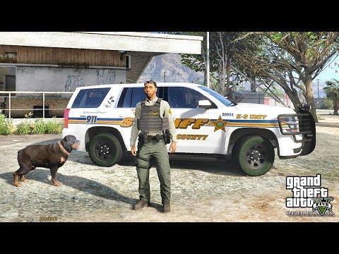 GTA 5 MODS LSPDFR 764 - SHERIFF K9 PATROL !!! (GTA 5 REAL LIFE PC MOD)