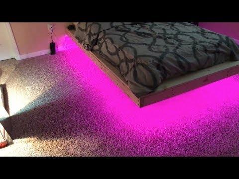Pallet Bed Frame - Build A Pallet Bed Frame With Lights