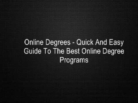 Online Degrees - Quick And Easy Guide To The Best Online Degree Programs