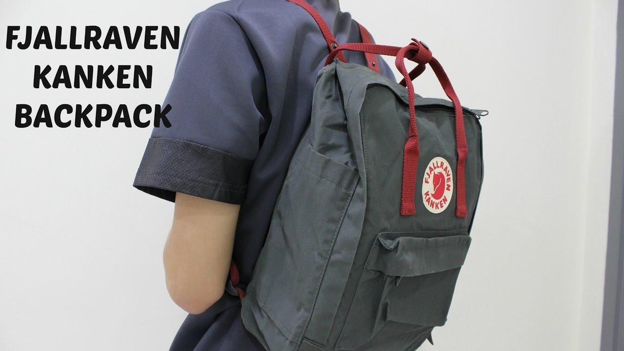 Fjallraven Kanken Classic Ox Red Backpack Ceagesp Mini Black