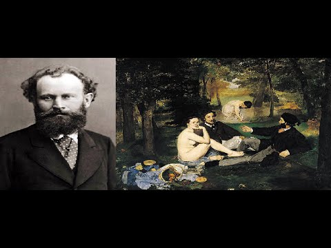 Video mostra Édouard Manet pittura pre-impressionista 1800 francese