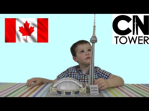 видео: 3d пазл складываем башню cn tower