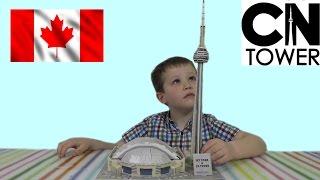 3D пазл складываем башню CN Tower
