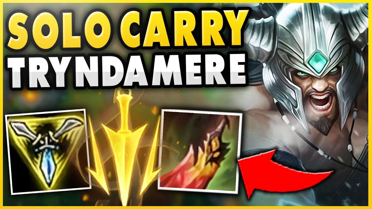 THIS NEW TRYNDAMERE BUILD IS ABSOLUTELY INSANE (SOLO CARRY POTENTIAL) -  League of Legends
