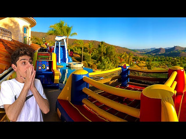 WORLDS FIRST INFLATABLE BACKYARD AMUSEMENT PARK! (9,000,000 SPECIAL)