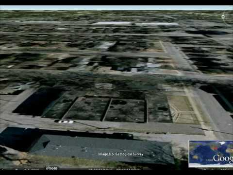 Using Google Earth 3D view to strafe Downtown Memphis