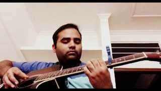 Tera Mera Pyar song intro covered on acoustic guitar by Surbhit Thanvi
