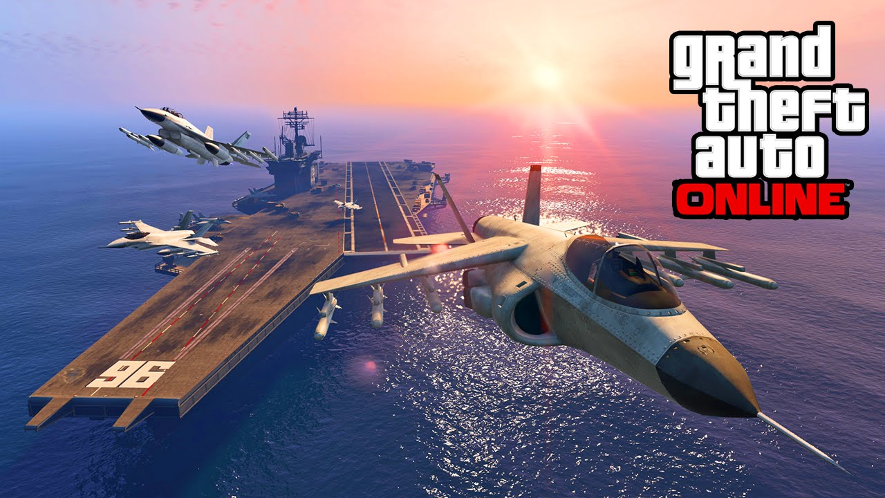 GTA 5 Heists - New Anti-Air Car, Hydra Jet, Barracuda Helicopter, & Aircraft Carrier Screenshots ...