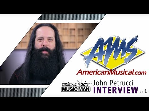 John Petrucci on his Music Man Guitars - AMS Exclusive Interview (1 of 2)