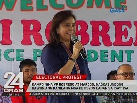 24 Oras: VP Robredo at Marcos, nagkasundong bawiin ang kanilang mga petisyon laban sa isa't isa