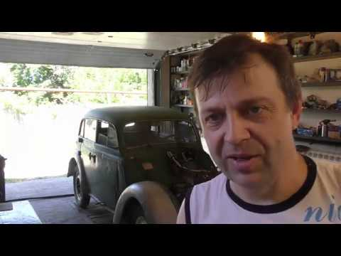 Первый запуск Москвич 401. Медное масло. Ремонт тормозов. Moskwitsch 400(401) Opel Kadett K 38