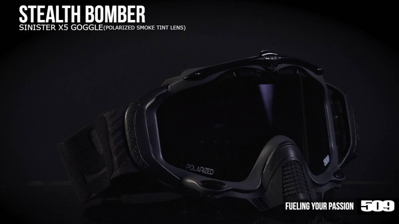 a347883ce1 509 Sinister X5 Snow Goggle - Stealth Bomber - YouTube