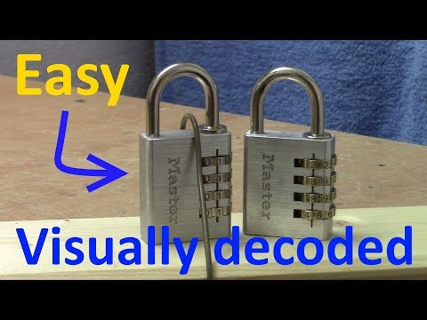 (picking 463) FUN: Decoding My Easiest Lock - A Master 4 Wheel Combination Padlock Visually Opened