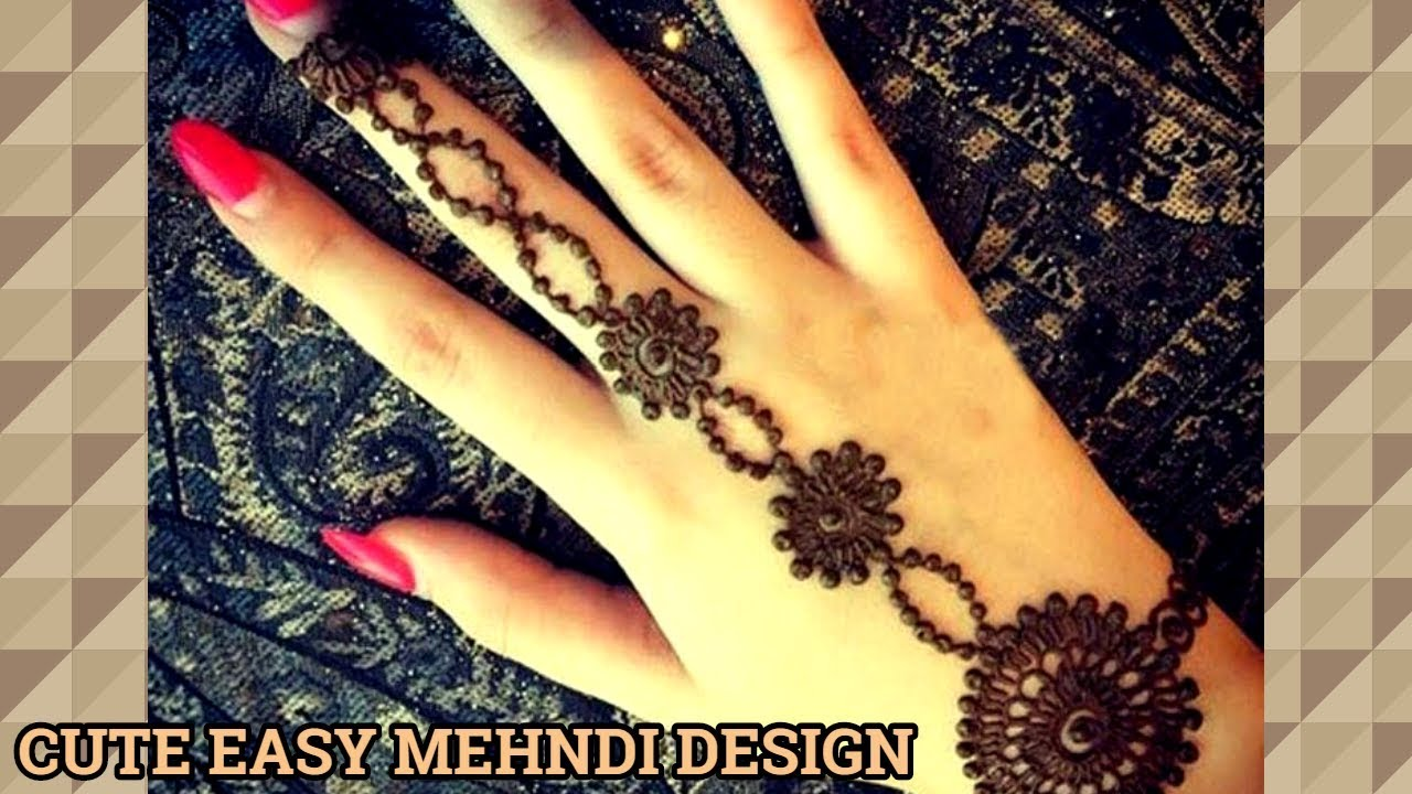Cute Easy Mehndi Design Easy Mehndi Design For Beginners Easy