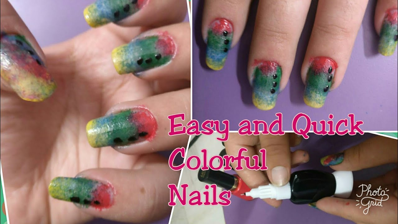 Easy Nail Art For College Going Girlsnail Art With Foam By My