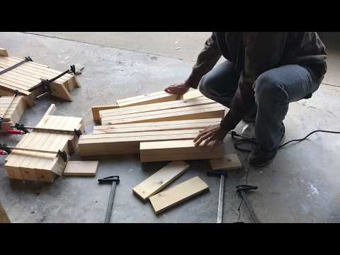 Laminate 2x4s to make table or bench legs
