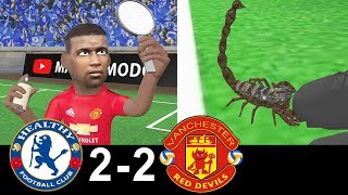CHELSEA vs MANCHESTER UNITED 2-2    Animated Parody   Goals and highlights