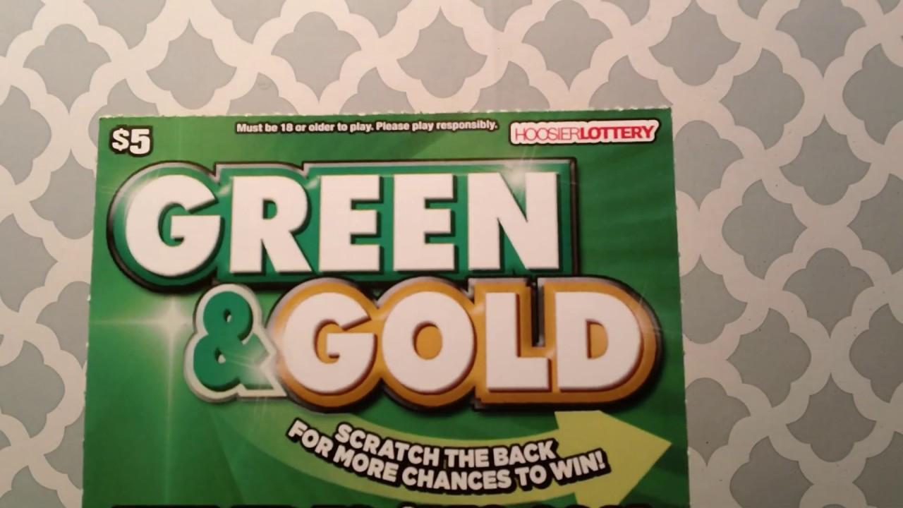 3 Green Gold Tickets Hoosier Lottery Youtube