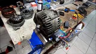 teste du rotor alternateur en aimant permanant