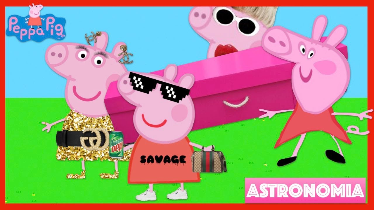 New Peppa Pig Coffin Dance Meme Astronomia Song Remix Edit | Cartoon Movie Toys Character Halloween