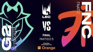 G2 VS FNATIC | LEC | Summer Split [2019] | FINAL Game 5 | League of Legends