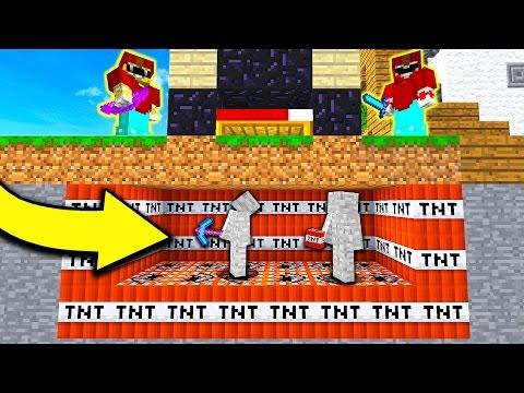 CRAZY MINECRAFT TNT BASE TROLL! (Minecraft BED WARS)
