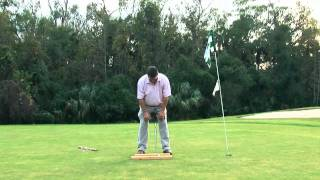 Golf Lessons - how to get your eyes over the ball when putting