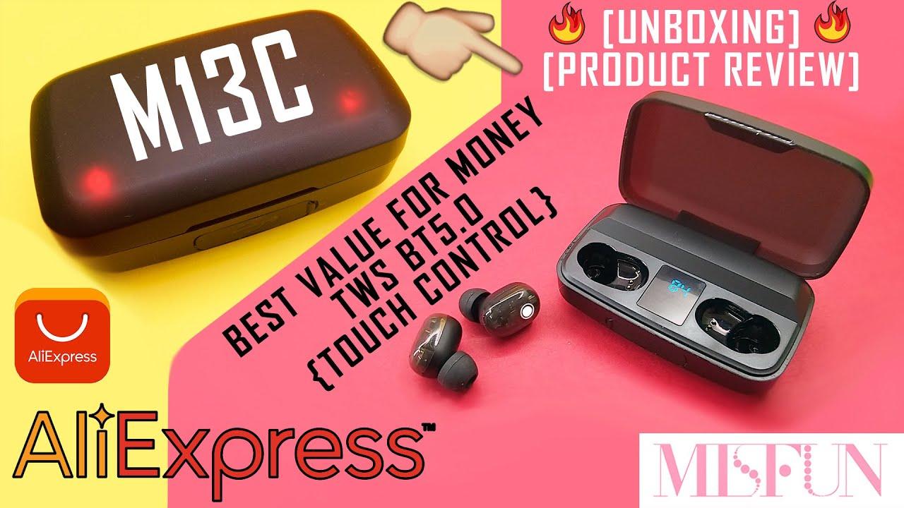 M13C TWS  BLUETOOTH BT 5.0 EARBUDS ALIEXPRESS QUICK UNBOXING 2020 | PRODUCT REVIEW | x_xLASHEEN #4