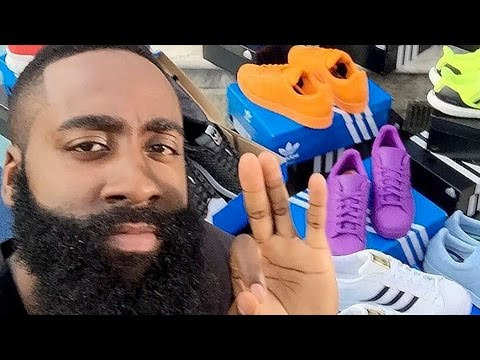James Harden Gets Truck Load Of Adidas Shoes After Signing Deal