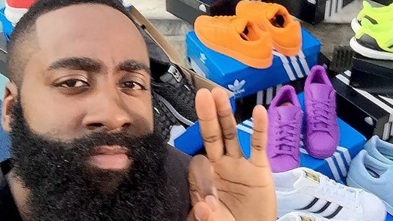 adidas sends james harden shoes