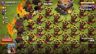x500 Lava Vs Full Max Air Defense Base Amazing Gameplay On Clash of Clans Private Server