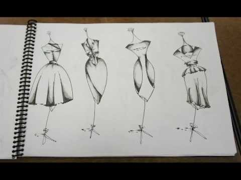 Moira O'Malley Fashion Design Portfolio - YouTube