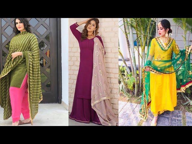 Latest colours of Punjabi plain suits || Beautiful punjabi plain salwar kameez || Kaur Trends