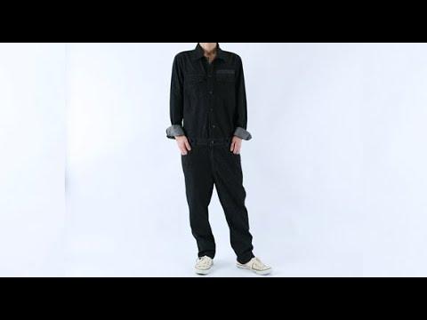 롤프 남성 남자 점프수트 점프슈트 청자켓 블랙 검정 데님점퍼 흑청 청바지 데님팬츠 점푸수트 힙합 블랙진
