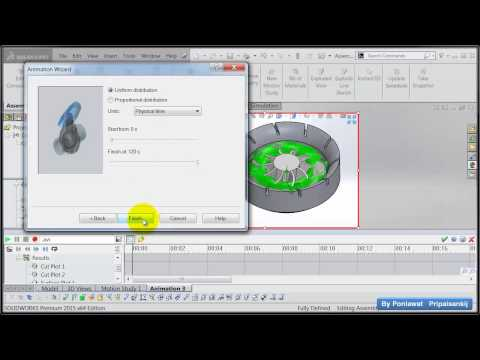 How to show animation transient result in solidworks flow simulation