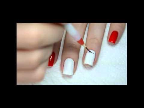 Рисунок рябина на ногтях