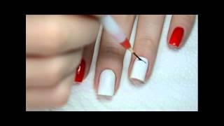 Дизайн Ногтей Рябина (рисунки на ногтях) | Easy Floral Nail Art Tutorial