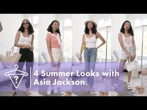 How To Style 4 Summer Essential Looks with Asia Jackson    #StyledByGUESS