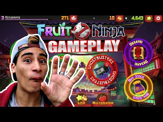 Fruit Ninja:Caça Fantasmas - Gameplay | Fruit Ninja:Ghostbusters