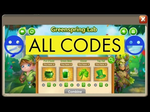 CASTLE CLASH GREENSPRING LAB EVENT CODES.
