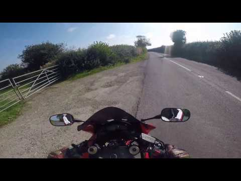 GOPR0458. Cbr600F up Zig zag hill  Shaftesbury Dorset.