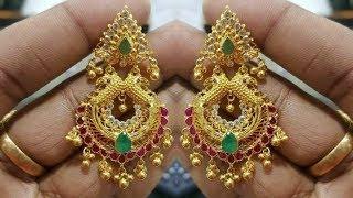 Traditional Gold Chandbali Earrings Designs 2018